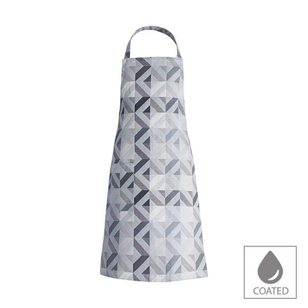 "Mille Twist Asphalte Apron 28""x33"", Coated Cotton picture"