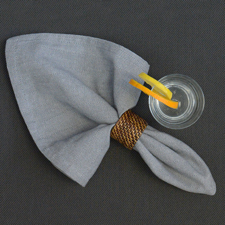 Chevroni Grey Napkin, Cotton-4ea picture