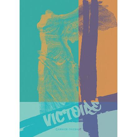 """Louvre Victoire Turquoise Kitchen Towel 20""""x28"""", 100% Cotton picture"""