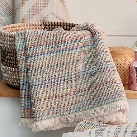 Maya Rainbow Hand Towel 19 x 39, Cotton picture