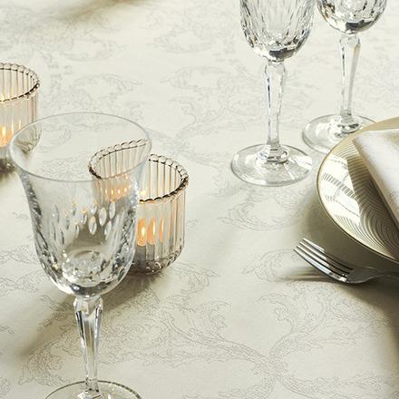 "Mille Eternel Albatre Tablecloth Round 71"", 100% Cotton picture"
