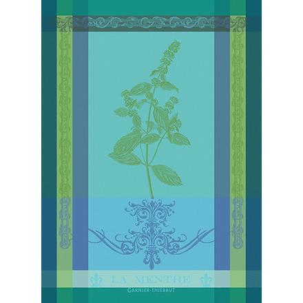 """Brin De Menthe Chlorophylle Kitchen Towel 22""""x30"""", 100% Cotton picture"""