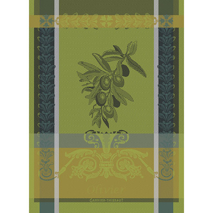 "Olivier Vert Brumeux Kitchen Towel 22""x30"", 100% Cotton picture"