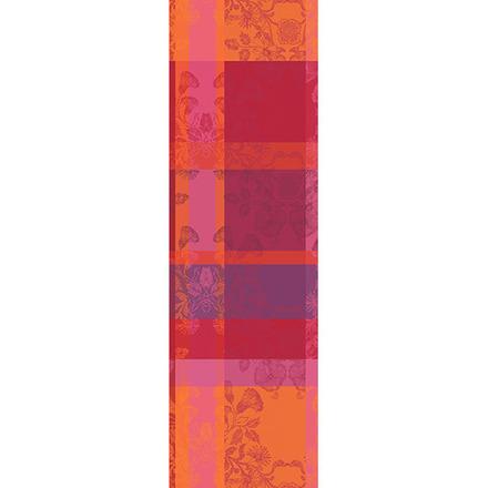 "Mille Fiori Feuillage Tablerunner 71""x22"", 100% Cotton picture"