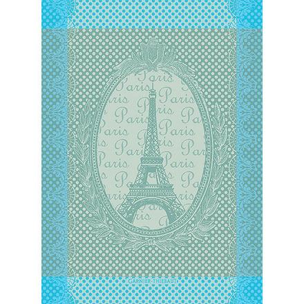 """Eiffel Vintage Celadon Kitchen Towel 22""""x30"""", Cotton picture"""