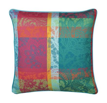 """Mille Dentelles Floralies Cushion Cover 16""""x16"""", 100% Cotton picture"""
