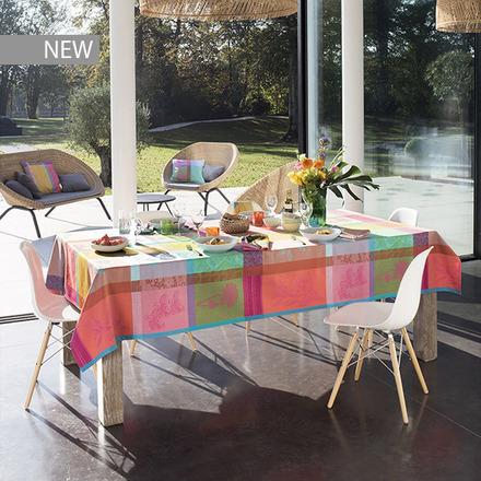 "Mille Gardenias Bourgeons Tablecloth 71""x118"", 100% Cotton picture"