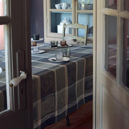 "Mille Wax Cendre Tablecloth 45""x45"", 100% Cotton picture"