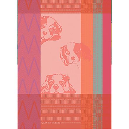 Petits Chiens Rose Kitchen Towel, Cotton picture