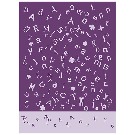 Scrabble Lavande Brise Printed Kitchen Towel picture