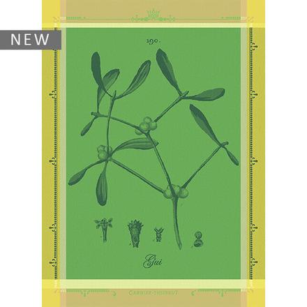"""Gui Botanique Vert Kitchen Towel 22""""x30"""", 100% Cotton picture"""