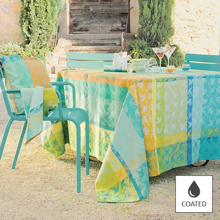 """Mille Colibris Maldives Tablecloth Round 69"""", Coated picture"""