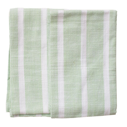 Dobby Stripes Sage Kitchen Towels - SET of 2ea picture