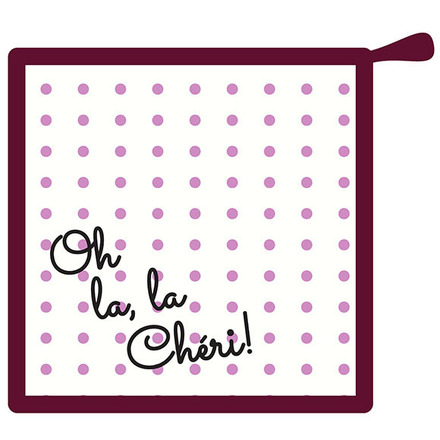 Oh La la Cherie Pourpre Pot Holder picture