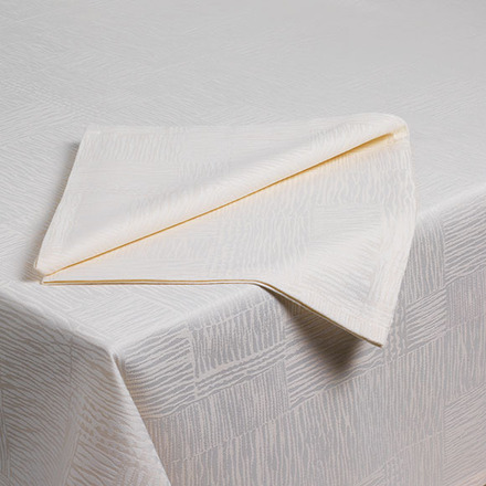 Pack of 12 Organic Ivory Napkin picture