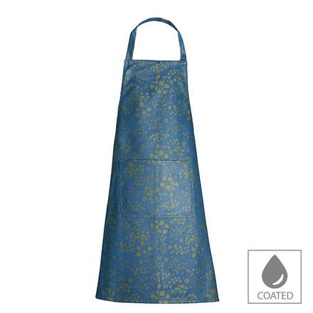 """Mille Feuilles Mini Bleu Dore Apron 30""""x33"""", Coated Cotton picture"""