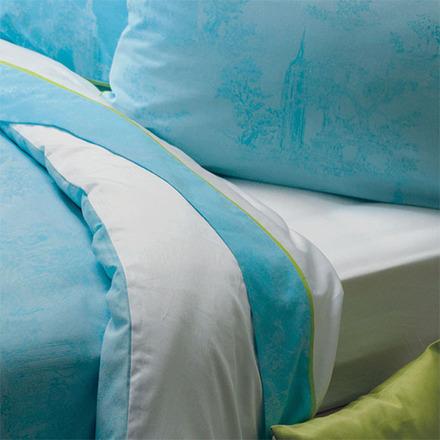 Bon Voyage Turquoise Pillow Case, King, Cotton-2ea picture