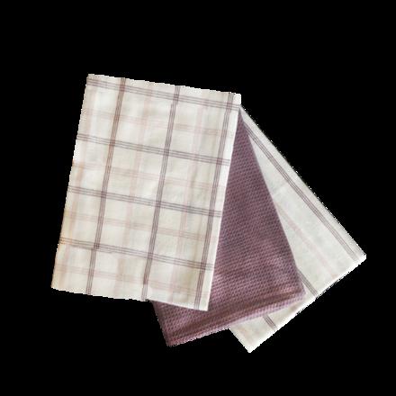 Soft Lavendar Kitchen Towels - 3PC SET picture