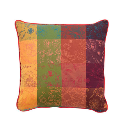 """Mille Alcees Litchi Cushion Cover  16""""x16"""" Cotton - 2ea picture"""
