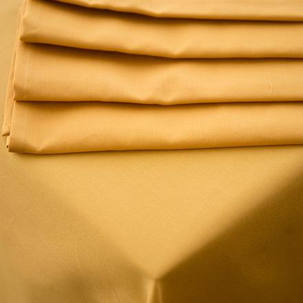 Plain Satin Cottonrich Gold Tablecloth Square 90x90 picture