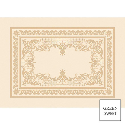 """Eleonore Dore Placemat 21""""x15"""", Green Sweet picture"""