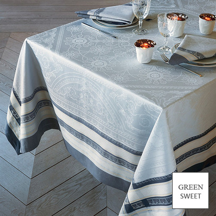 "Tablecloth Rectangle Galerie Des Glaces Argent 68""x99"", GS Stain Resistant - 1ea picture"