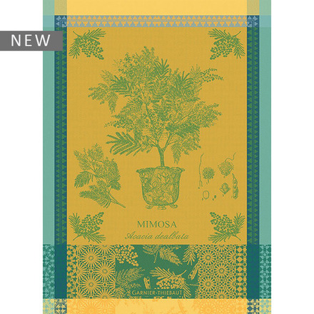 "Mimosa Yellow Kitchen Towel 22""x30"", 100% Cotton picture"