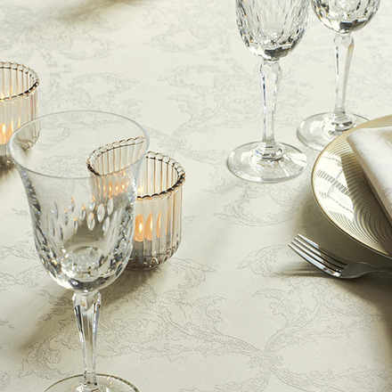 """Mille Eternel Albatre Tablecloth 71""""x71"""", 100% Cotton picture"""