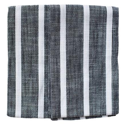 Dobby Stripes Black Kitchen Towels - SET of 2ea picture