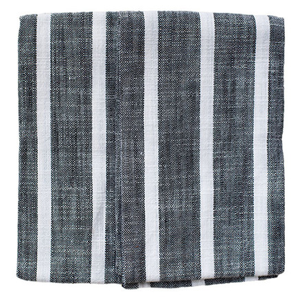 Black Dobby Stripe 2pcs Kitchen Towel Set picture
