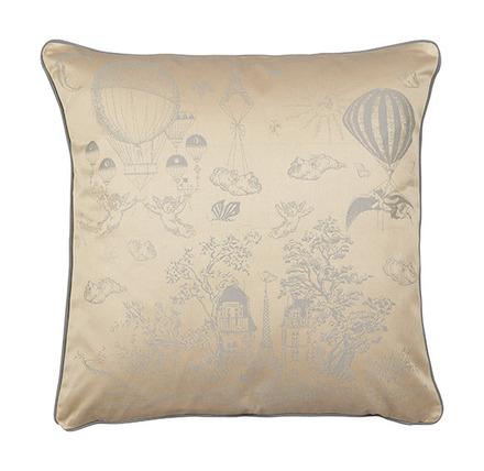 "Voyage Extraordinaire Or Pale Cushion Cover 20""x20"", Cotton-2ea picture"