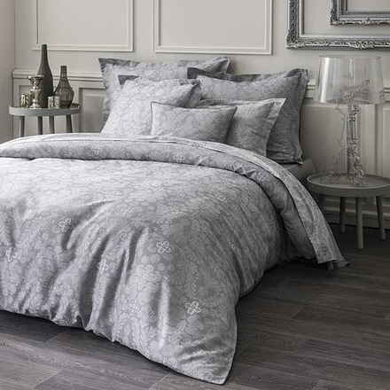 Velvet Grey Pillow Case, Euro, Cotton - 2ea picture