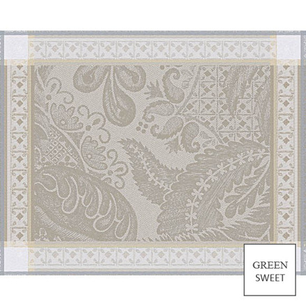 """Isaphire Platine Placemat 21""""x15"""", Green Sweet picture"""