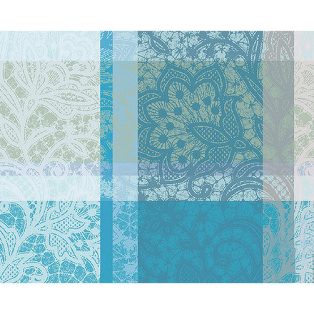 "Mille Dentelles Turquoise Placemat 16""x20"", 100% Cotton picture"