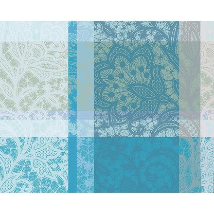 """Mille Dentelles Turquoise Placemat 16""""x20"""", 100% Cotton picture"""