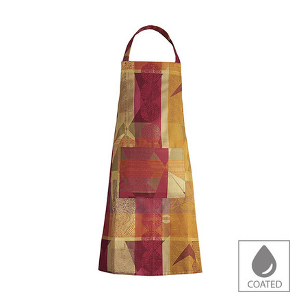 """Mille Tingari Terre Rouge Apron 30""""x33"""", Coated Cotton picture"""