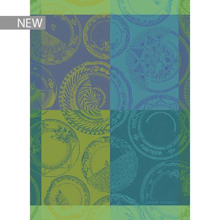 """Assiettes Et Couleur Vert Kitchen Towel 22""""x30"""", 100% Cotton picture"""