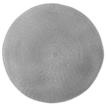 Pack of 4 Cascade Grey Vinyl Placemat picture