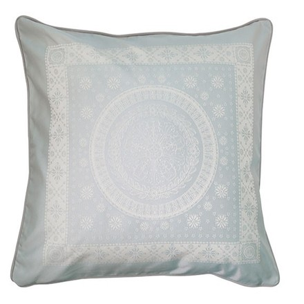"""Imperatrice Uni Argent Cushion Cover  20""""x20"""", Cotton/Polyester picture"""