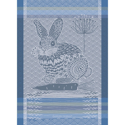 Lapin Design Blue Kitchen Towel picture