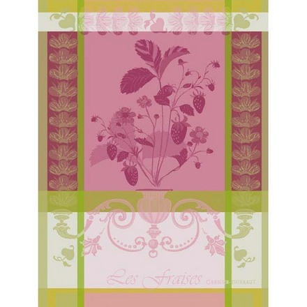 Kitchen Towel Fraisier Rose, Cotton - 1ea picture