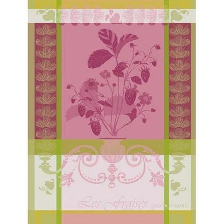 """Fraisier Rose Kitchen Towel 22""""x30"""", 100% Cotton picture"""
