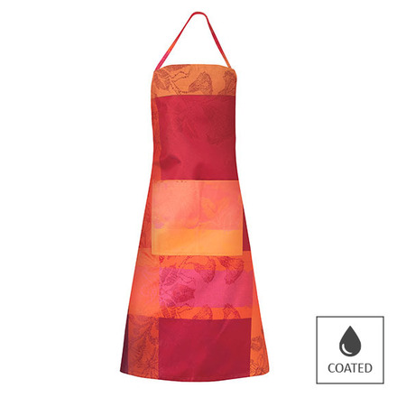 """Mille Fiori Feuillage Apron 30""""x33"""", Coated Cotton picture"""