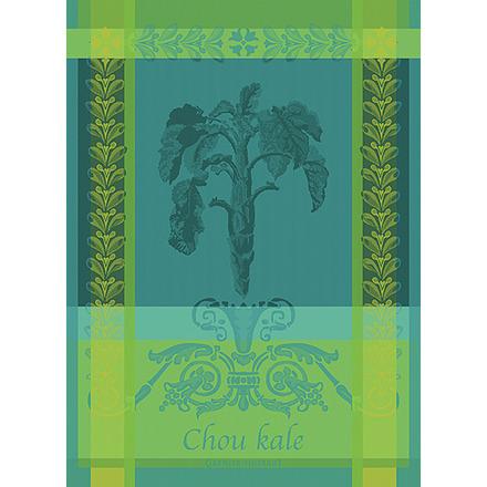 """Chou Kale Bleu Kitchen Towel 22""""x30"""", 100% Cotton picture"""