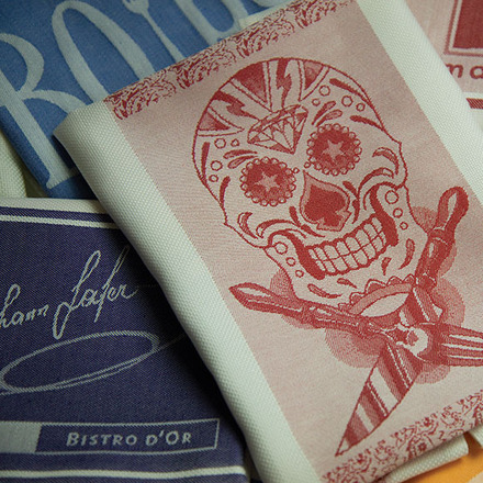 Pack of 12 Bistro Skull Logo Napkin picture