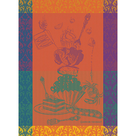 """Crazy Cake Berry Kitchen Towel 22""""x30"""", 100% Cotton picture"""