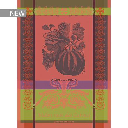 """Melon Noir Rouge Orange Kitchen Towel 22""""x30"""", 100% Cotton picture"""