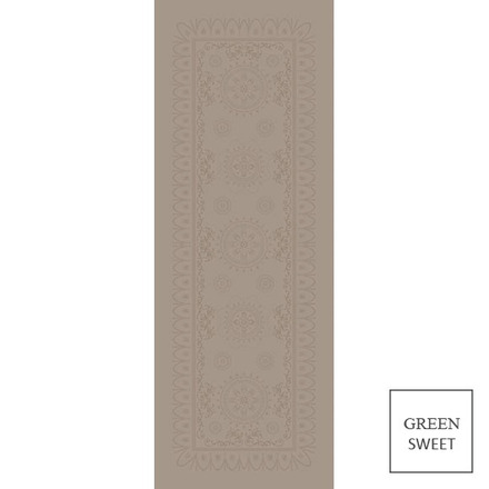"Eloise Macaron Tablerunner 21""x71"", Green Sweet picture"
