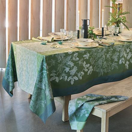 """Mille Automnes Mousse Tablecloth 71""""x98"""", 100% Cotton picture"""