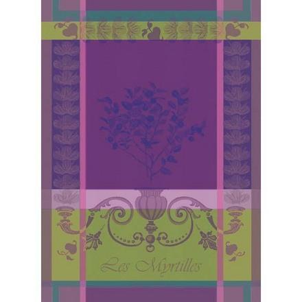 Kitchen Towel Myrtilles Violet, Cotton - 1ea picture